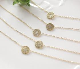 Bridesmaid gifts - Set of 5 - Round circle necklace, modern bridesmaid gift, modern wedding, eternity necklace