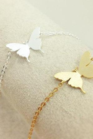 Butterfly anklet, Nature Jewelry, Simple everyday jewerly, summer anklet