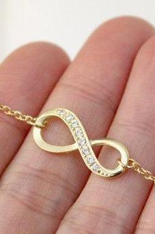 Gold Infinity bracelet, Friendship bracelet, christmas gift, Bridesmaid gift,Holiday gift bracelet,infinity jewelry,gold infinity bracelet