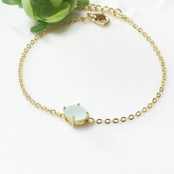 Bridesmaid gifts - Set of 5 - Green aquamarine braceletFrom ElliesButton